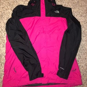 The North Face 3 in 1 HyVent Jacket Fleece Pnk/Blk